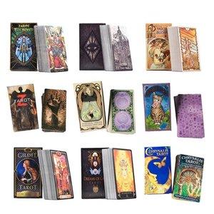 78 80pcs Yeni Tarot Kartları Visions Aydınlatılmış Tarot Kartları Aile Arkadaş Parti Playing Game Kartları Tam İngiliz ile Kılavuzu yxlfdi