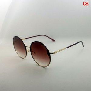 Yakınımdaki Güneş Gözlüğü Vintage Serin Daire Güneş Gözlüğü Moda Kadın Adam UV400 Sarı Karışık Renk Ucuz Tasarımcı Güneş Gözlüğü Özel Etiket 2020