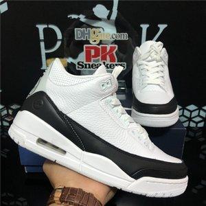 Верхнее качество UNC Черный Белый Цементные Jumpman 3 3s Мужские Женские баскетбольные Обувь Фрагмент Летные Никс Огонь Красный Био Beige Мужская Спортивная обувь