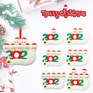 Süsleme, Sosyal Mesafenin Aile DHL Asma 2020 Karantina Noel Doğum Parti Dekorasyon Hediyelik Ürün Kişiselleştirilmiş 3-7 gün