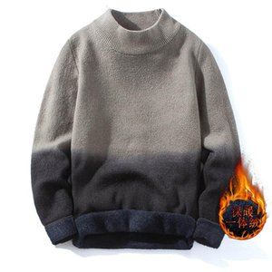 Men's Sweaters One Piece Cashmere Sweater For Winter Style Plush And Thickened Bottoming Shirt Korean Fashion Personality