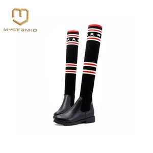 Women over the knee boots thigh high suede boots autumn winter women's wear fur warm black winter shoes woman . XZ-015