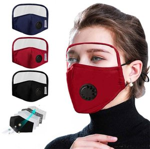 Face Visor Adult Dustproof Anti-Fog Reusable Face Protect Sheild Face Mask With Detachable Eyes Shield Masks Free Shipping
