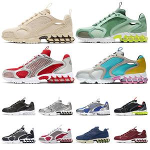 nike air zoom spiridon cage 2 stussy  iii masculino ao ar livre camo vermelho preto mens sports sneakers formadores velocidade crosspeed 3 tênis tamanho 40-46
