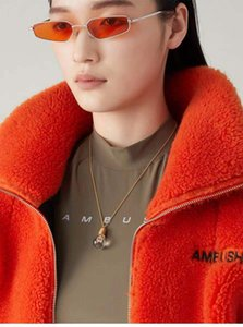 AMBUSH hip hop street style lamp Pendant 925 sterling silver simple necklace for men and women
