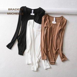 Body Top in cotone a maniche lunghe da donna Bradely Michelle 2020 con bottoni nascosti1