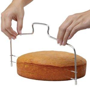 الجملة مطبخ DIY الخبز اكسسوارات خط مزدوج القطاعة كعكة الرئيسية DIY كعكة فرد قطع الخط قابل للتعديل الكعك القطاعة BWB1515
