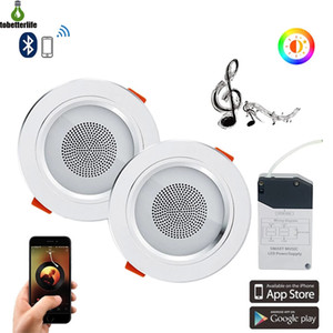 Mini Smart Music LED Ceiling Lights Modern Audio Downlight Bluetooth Music Lamp APP Control Living Room Bedroom Kitchen Lighting