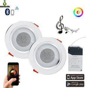 مصغرة الذكية الموسيقى LED أضواء السقف الحديثة الصوت النازل بلوتوث الموسيقى مصباح APP تحكم المعيشة غرف النوم مطبخ الإضاءة
