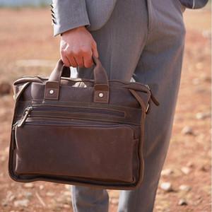 Sac de porte-documents en cuir authentique authentique Luufan pour homme adapté au sac d'affaires de 14 pouces PC Vintage mâle sac à main sac à main à la main Crossbody1