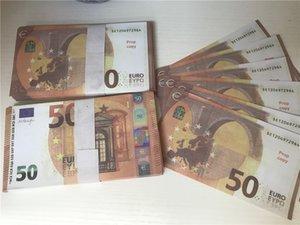 2021 Vente à chaud transfrontalier Moderne Moderne Euro 50 Copier de papier Banknote PROP ARGENT EURO 100PCS / PACK 033