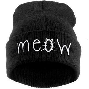 A2 New Meow cat wool hip hop knitting hat T6K4