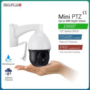 SecuPlug+ Mini Dome 3 inch PTZ AHD Camera 2MP Full HD 1080P 4X zoom 2.8-12mm auto focus Pan Tilt Rotate Zoom PTZ Camera