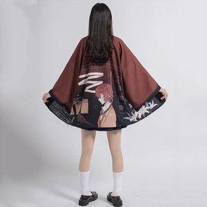Bungou streunende Hunde Japanische Kimonos Frau Kimono Strickjacke Osamu Dazai Cosplay Shirt Bluse Für Frauen Yukata Sommer Kimono LJ200922