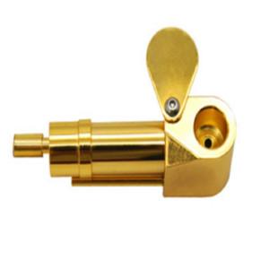 Latón Proto Pipe Deluxe pipa Cenicero Tazón humo de metal portátil de oro de la astilla de DHL GWF2607 libre directo color de la herramienta hierba China de fábrica