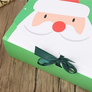 Christmas Paper Gift Box Cartoon Santa Claus Packaging Boxes Christmas Party Favor Box Bag Kid Candy Xmas Supplies SEA SHIPPIG GWF2728