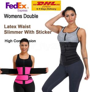 US Stock! Waist Trainer Reducing Shapers Slimming Trimmer Belt Body Shaper Neoprene Tummy Shapewear Steel Bones Woman Cincher Corset