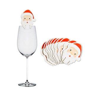Decorazioni di Natale 10pcs per HomeGlass Segno Bandiera di natale Happy New Year Dinner Party stuzzicadenti Bandiera alimentari Ornamenti natale KKF2004