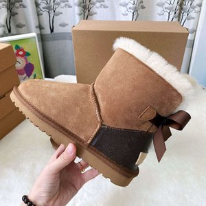 Señora estilo de las mujeres bebé niños la manera del invierno de la nieve Botas Top firmado conjuntamente cuero genuino botas del tobillo zapatos estilo de arranque Mujeres Niños