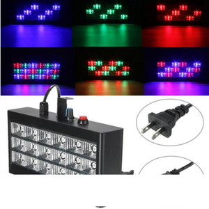18 LED RGB Light Projector Strobe Light For DJ Club Disco KTV Stage Party Show US EU Plug 20W