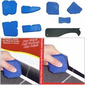 Onnfang 4/9 Piezas-herramienta Ángulo de goma Pala Pala Mujer del rascador de pegamento Costura hermosa del raspador ángulo u2mz #