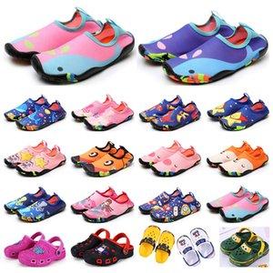 Scarpe da giornale per bambini Scarpe sportive Wading Sandali traspiranti Sandali Beach Indossare antiscivolo resistente all'usura Cartoon Hole Shoes Boys Girls Summer Trainer