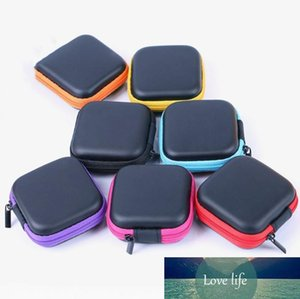 Mini Earphone box Protective USB Cable Organizer Spinner Storage Bags Headphone Case PU Leather Earbuds Pouch SN1348