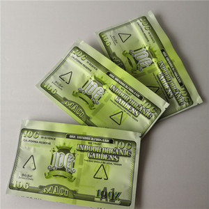 New Indoor organic Gardens Billy boat MAC1 10g Alien Labs Mylar Childproof Bags 420 Packaging IOG mylar Bag size 10g Bags