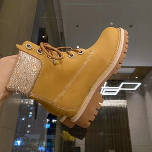 Top quality outdoor ankle boot joint ironing and drilling rhubarb boots classic waterproof luxury designer leather high quality