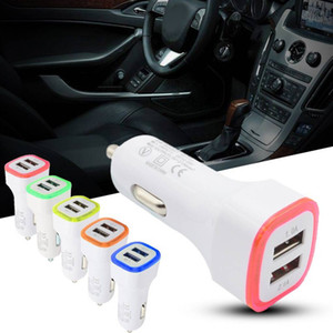 LED Dual USB Car Charger Cigarette Lighter Car Charger foriphone 8 X 11pro GPS Mobile Phone MP3 PDA Bluetooth Headset Digital Camera