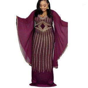 African Dresses For Women Dashiki Diamond African Clothes Bazin Broder Riche Sexy Slim Ruffle Sleeve Robe Evening Long Dress1