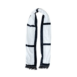 Tassels Sublimation Blanks Scarves Double Sided Scarf Thermal Transfer Towel Sublimation Blanks Scarf LLA227