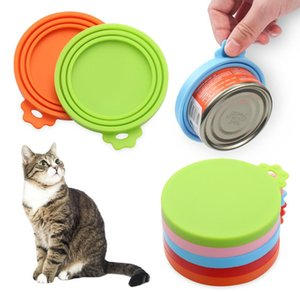 Colorful Silicone Can Lid Sealed Feeder Food Can Cover Reusable Food Storage Lids Universal Size Fit 3 Standard Size Food Cans Lids