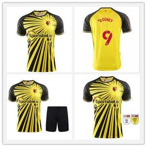 Kinder 20 21 Kelme Watford F.C. Home Yellow Fussball Jersey 2020 2021 Watford F.C. Männer Shorts Football Shirt Custom Sales