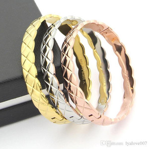 Fashion 316L stainless steel Silver gold rose gold Female Love Bangles charm Bracelets for women men Jewelry Pulseras Party gifts