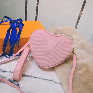 Mini Fashion Desinger rosa a forma di cuore a forma di cuore di cuoio in pelle di vitello donna in tela in rilievo trasversale a tracolla sera borsa borsa