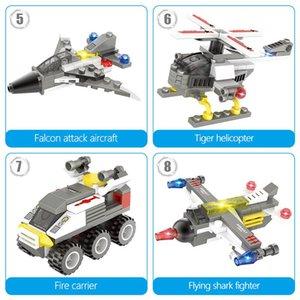 491pcs de bricolaje blindados sobre ruedas modelo del tanque de bloques de construcción de los aviones militares de coches Turck soldado Figuras Ladrillos juguetes para niños ly_bags jllEUM
