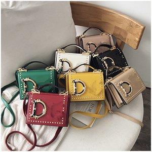 Fashion Letter Shoulder Bags Women Girls Handbag Rivet Designer PU Leather Crossbody Messager Bag Luxurys Handbags Outdoor Phone Pouch