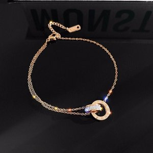 2020 indelible titanium steel anklets for women web celebrity simple sexy anklets simple fashion version