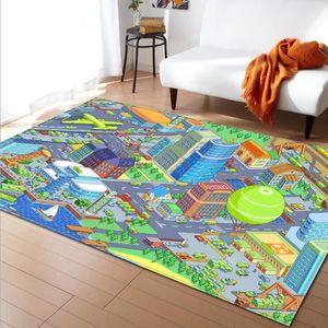 Cartoon print rugs and carpets for Home living room rug baby bedroom Crawl tapetes para casa sala Child Non-slip carpet alfombra