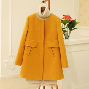 Autumn Winter Womens Trend Pocket Woollen Cloth Loose Coat New Casual Womans Plus Size Medium Long Woolen Cloth Overcoats LJ201106