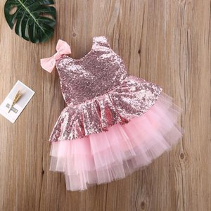 1-6y Toddler Infant Baby Kid Girls Tutu Dress Sequins Bow Princess Party Wedding Birthday Dresses For Girls Christmas R jllcNG
