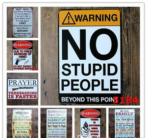 Bathroom Decoratio Toilet Home Tin People Bar Vintage Stupid Rules Tin Signs Kitchen Retro Warning No Cafe Restaurant Pub Family Meta jllHj