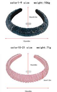 Yeni Lüks Bejeweled Yastıklı Moda Lüks Rhinestones Sünger Hairbands Kadınlar için Sparkly Yenilik Bantlar 08zh