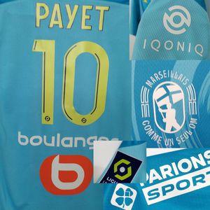 2020 OM 3RD Benedetto Maillot con Thauvin Payet Alvaro Rongier Mandanda con sponsor completo Soccer Patch Badge