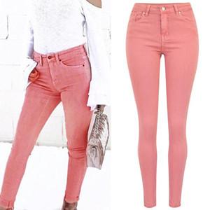 Frauen Stretch-Jeans-Bleistift-Hosen mit hoher Taille dünne Denim-Hose Elastic Push Up Female Dinim Pants Plus Size Übergröße XXXL