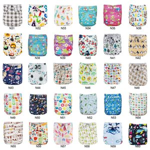 Panales Ecologicos BABYLAND 30pcs Cloth Diaper & Absorbents Waterproof Diaper Microfleece Pocket Diaper Prevent Leakage Nappies 201020