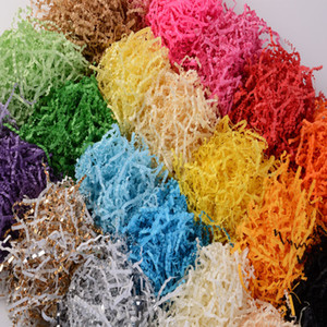 Taike factory spot Wholesale Filling Gift Wrapping Crinkle Shred Paper variety of color