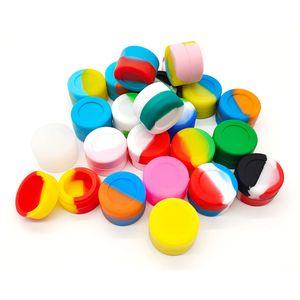 3ML Boîte de cire Conteneurs silicone Jars mini-conteneur Dab antiadhésif Pot de rangement réutilisable cas DHL gratuit