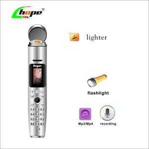 Orignal AK009 Música Pen celular Bluetooth Dialer Reporter gravação do telefone móvel 2000mAh Mini Handheld ligher Celulares para Man Student
